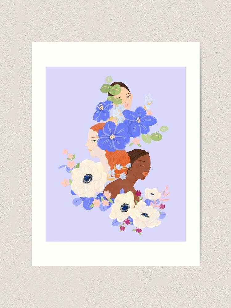 Alternate view of Flower Ladies Art Print