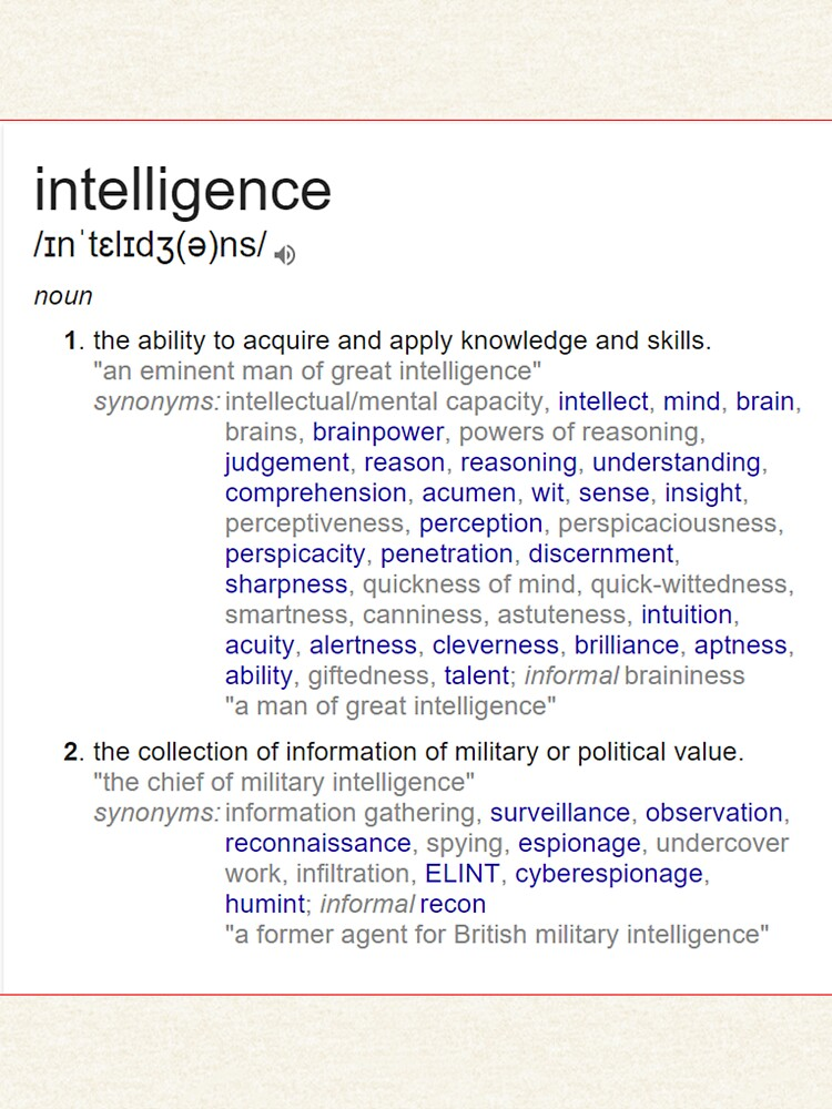 What intelligence means ? by santoshputhran