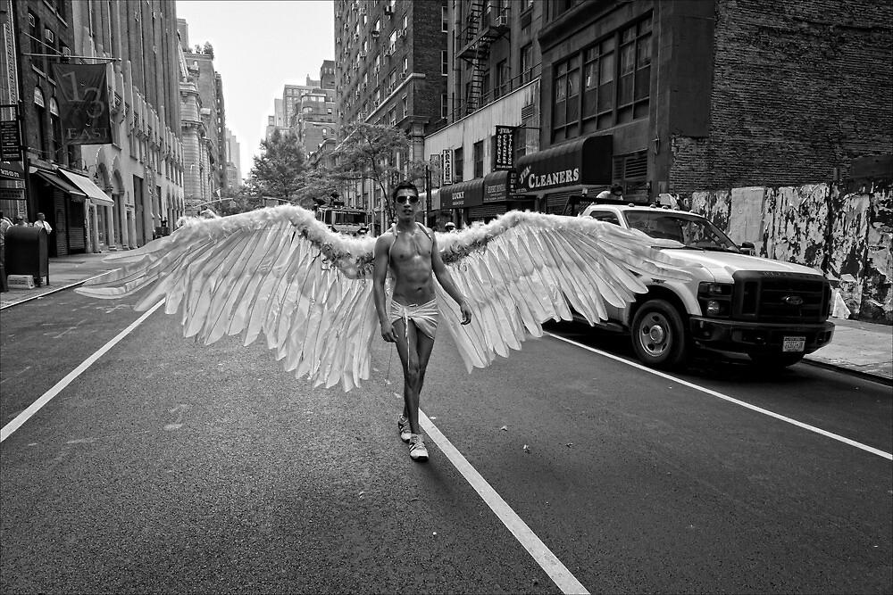 Gay Pride NYC 2010 - Angel Wings by Robert Ullmann
