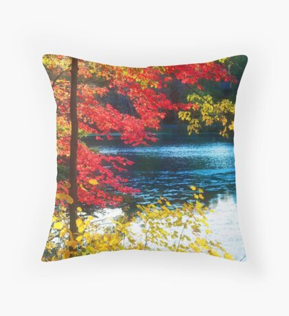 The Glory of a New England Autumn Throw Pillow