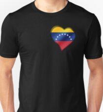 Venezuelan Flag - Venezuela - Heart Unisex T-Shirt