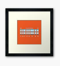 Back to the future Delorean's back plates. Framed Print