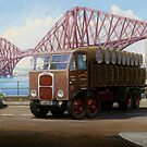 Scammell 8 at the Forth Bridge by Mike Jeffries