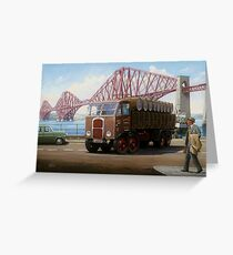 Scammell 8 at the Forth Bridge Greeting Card