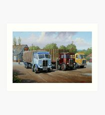 Max's transport cafe. Art Print