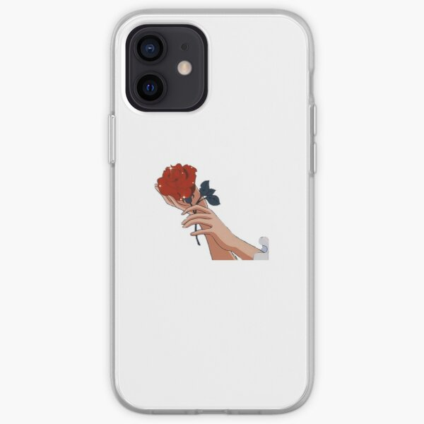 Aesthetic Anime Pretty Rose iPhone Soft Case