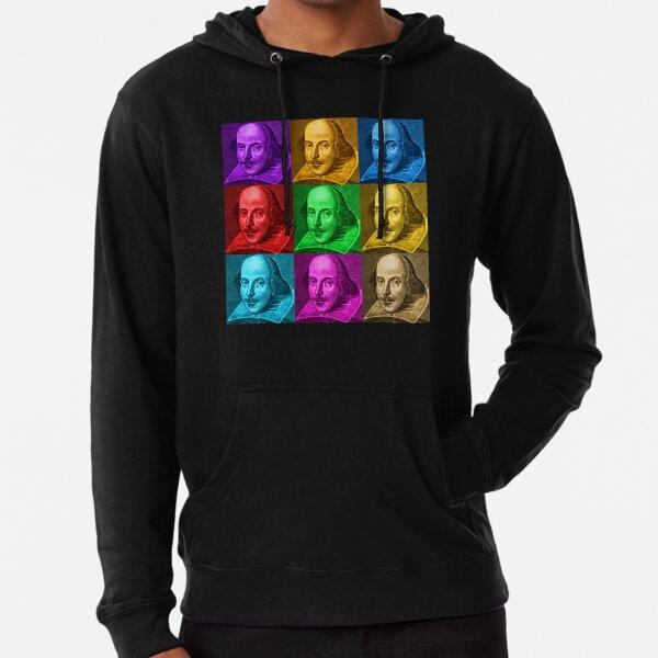 William Shakespeare Pop Art Lightweight Hoodie