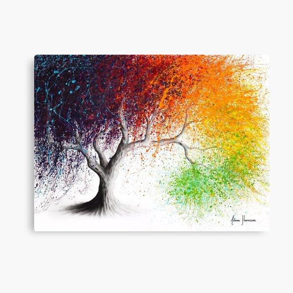 Rainbow Seasons Tree Canvas Print
