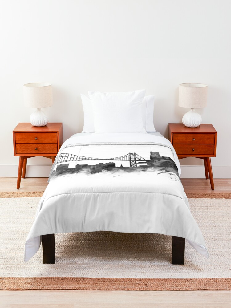 Alternate view of San Francisco Skyline Comforter