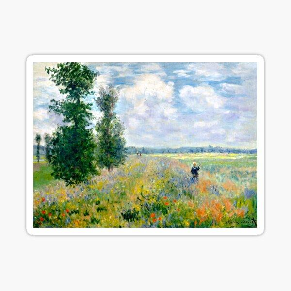 Claude Monet Poppy Field Argenteuil Sticker