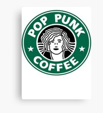Pop Punk Coffee Canvas Print