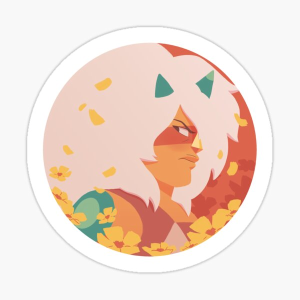 Pastel Jasper portrait Sticker