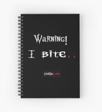 Warning I Bite! Gothic.Life Spiral Notebook