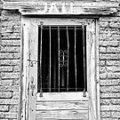 Old Jailhouse Door in Black and White by Bo Insogna
