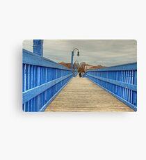 On the blue bridge Canvas Print