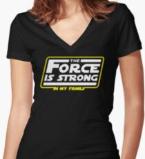 Strong In My Family Women's Fitted V-Neck T-Shirt