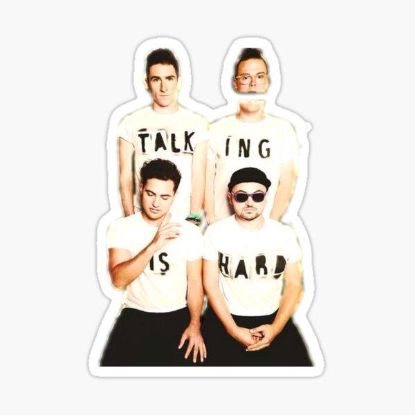 Talking Is Hard Album Cover Sticker