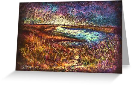 ACROSS THE POINT   Pastel by Peter R Davidson