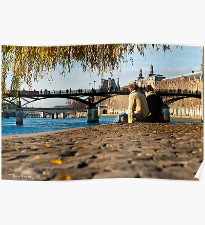 Lazy Noon in Paris Poster