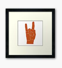 Hook Em Hand Sign Framed Print