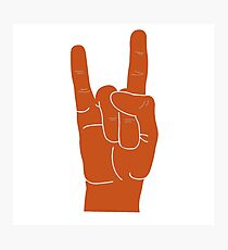 Hook Em Hand Sign Photographic Print