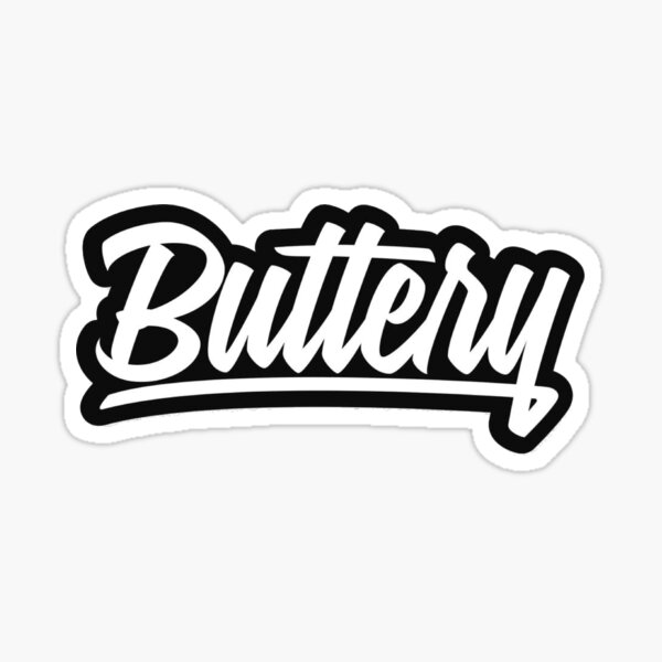 buttery films sticker logo Sticker