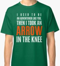 Arrow in the Knee - Text Only Classic T-Shirt
