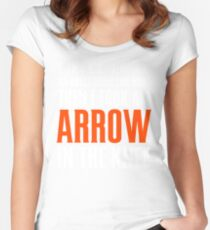 Arrow in the Knee - Text Only Women's Fitted Scoop T-Shirt