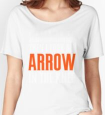 Arrow in the Knee - Text Only Women's Relaxed Fit T-Shirt