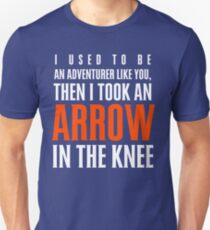 Arrow in the Knee - Text Only Unisex T-Shirt