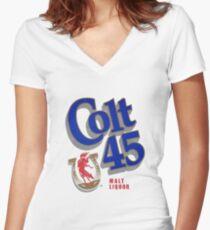 Colt 45 Women's Fitted V-Neck T-Shirt