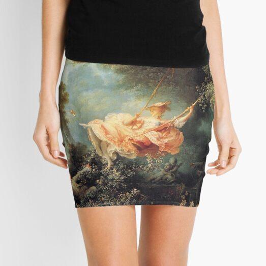 The Swing by Jean-Honoré Fragonard Mini Skirt