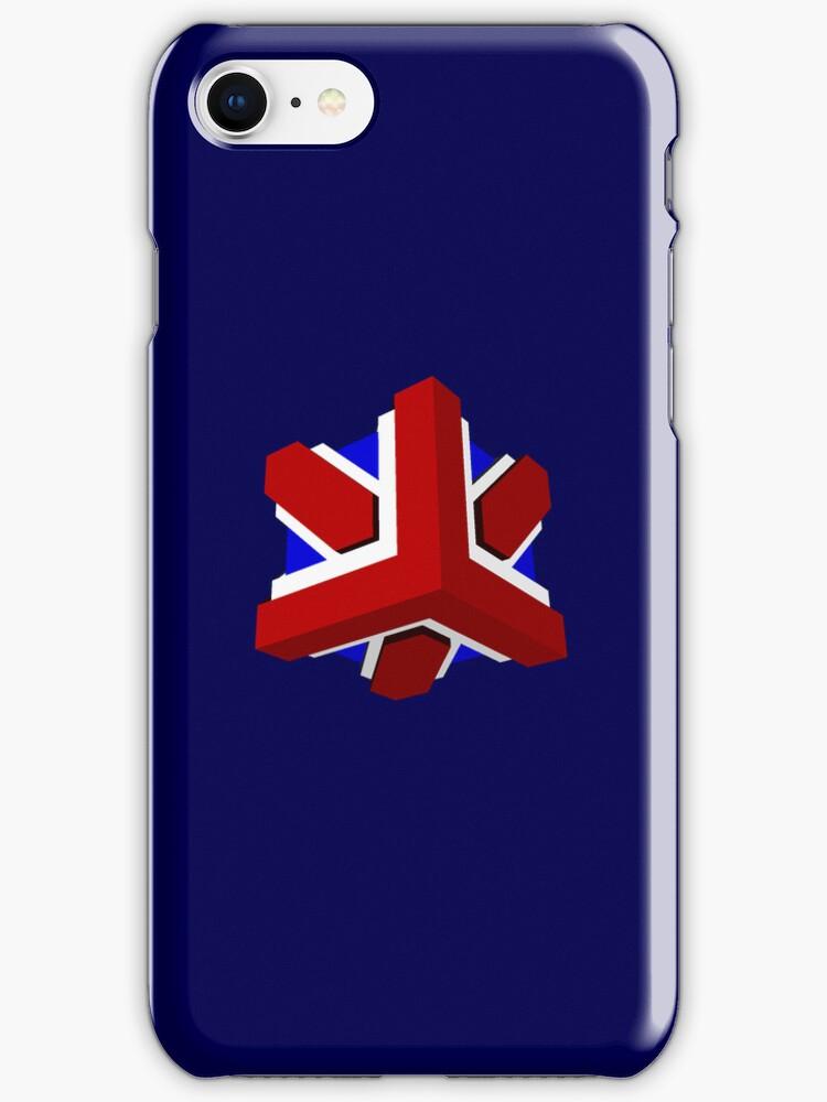 Union Jack Cube I by glyphobet