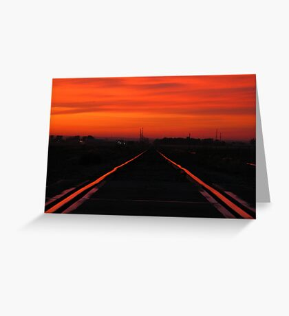 11-11-11........Fire In The Sky Greeting Card