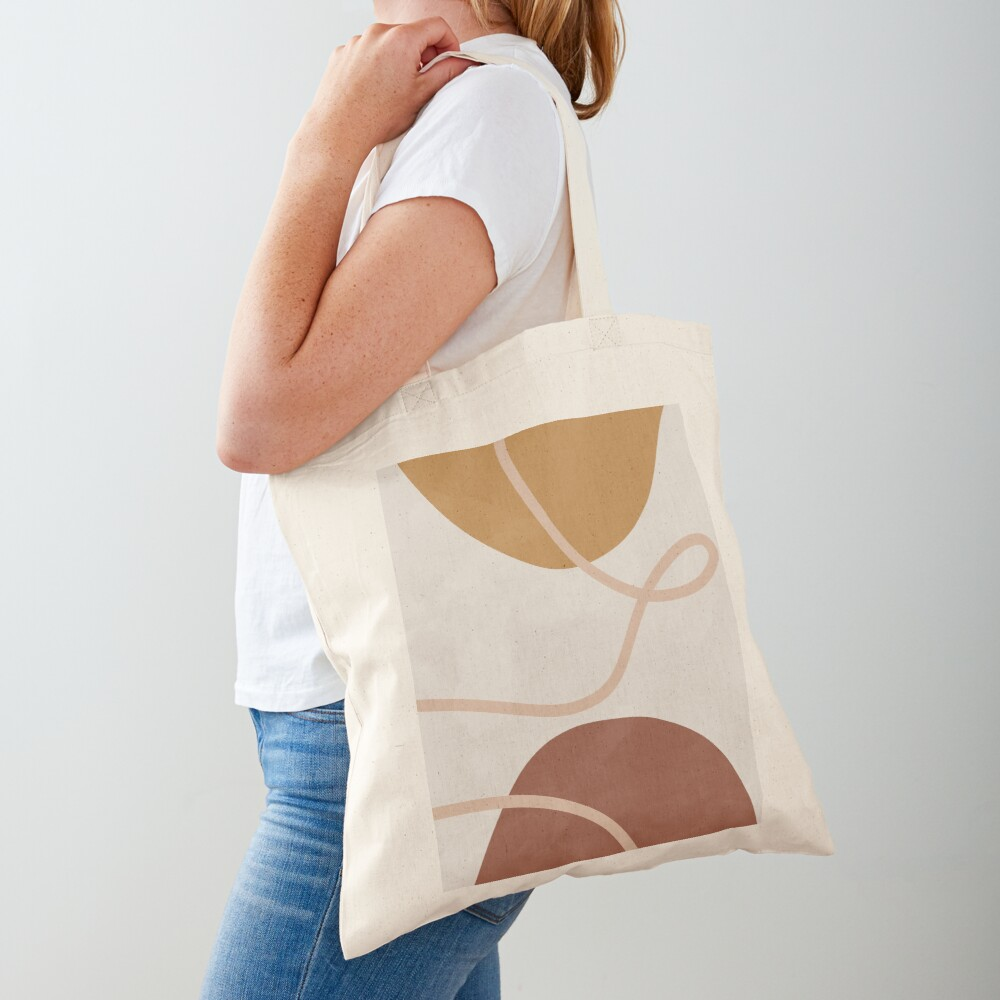 Mid century abstract organic art Tote Bag