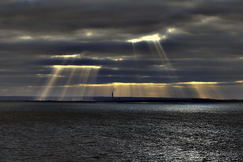 Sun Rays over Kent  by larry flewers