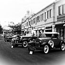 Vintage, Antique Cars on Display, Black and White by PhotosByTrish