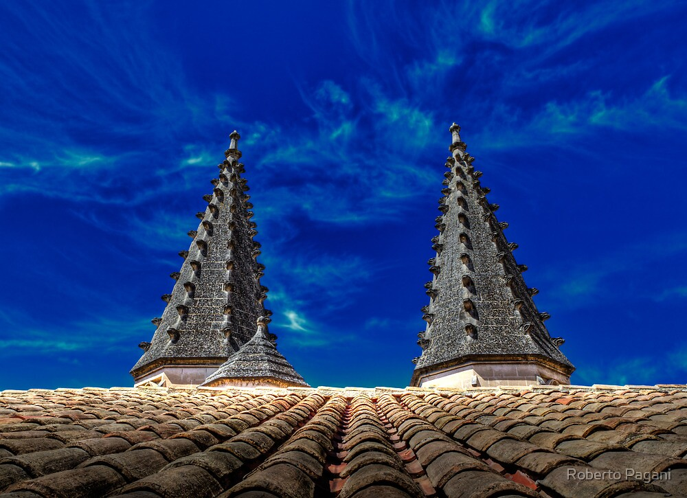 Roof and clouds by Roberto Pagani