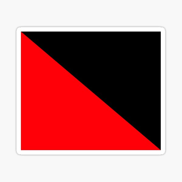 Anarcho-Syndicalism Flag - Plain and Simple Sticker