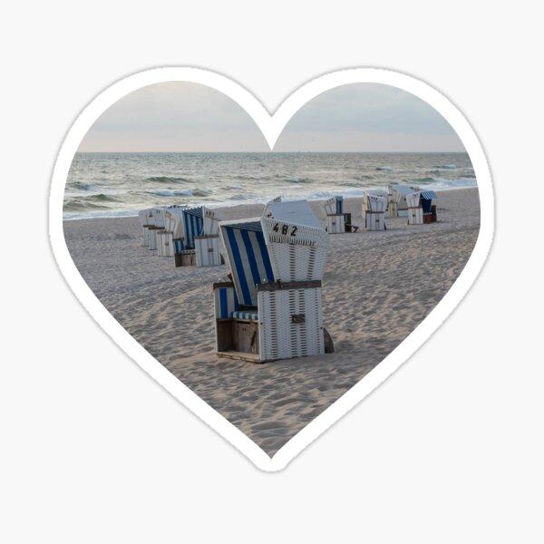 I love Sylt Beach Sticker