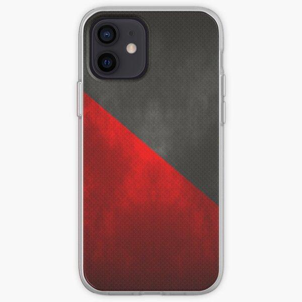 Bandera Anarcosindicalismo - Iluminada y Texturizada Funda blanda para iPhone
