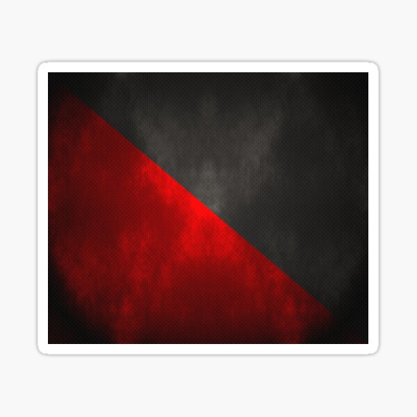 Anarcho-Syndicalism Flag - Lit and Textured Sticker