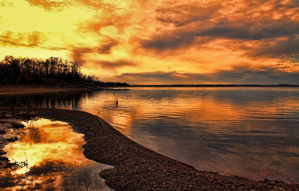 Sunset Reflections by Carolyn  Fletcher