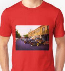 Vintage, Antique Cars on Display, Color Unisex T-Shirt