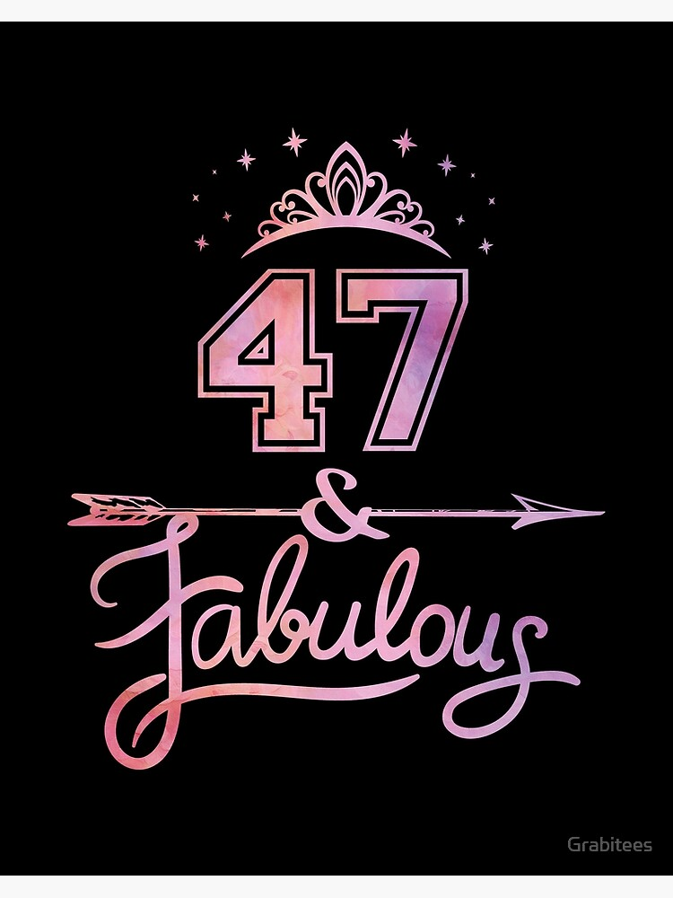 gift for 47th Birthday Party 47th birthday gifts for women 47th birthday gift Sassy Fabulous At 47 47th birthday tshirt