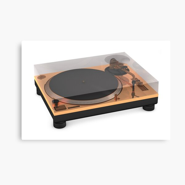 Golden Turntable Canvas Print