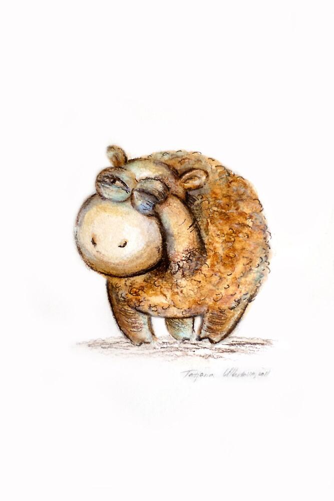 """""""Wise little sheep"""" by Tatjana Larina"""