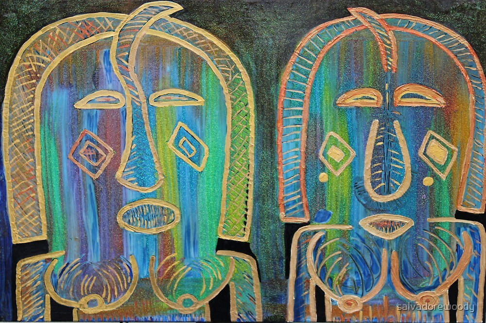 A pair of paintings of a nommo memorys by salvadorewoody