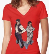 Star Wars excitement in the DCU Women's Fitted V-Neck T-Shirt