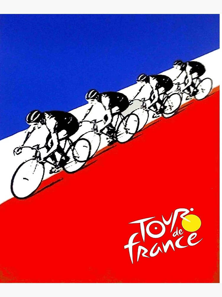 TOUR DE FRANCE; Abstract Bicycle Race Advertisement Print by posterbobs